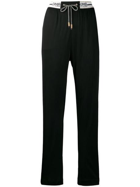 Cavalli Class logo sweatpants in black