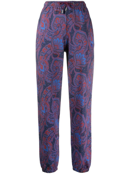 Etro paisley-print trousers in blue