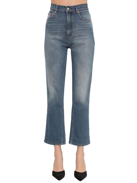 MAGDA BUTRYM High Waist Straight Cotton Denim Jeans