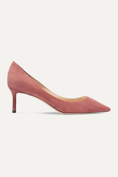 Jimmy Choo - Romy 60 Suede Pumps - Antique rose