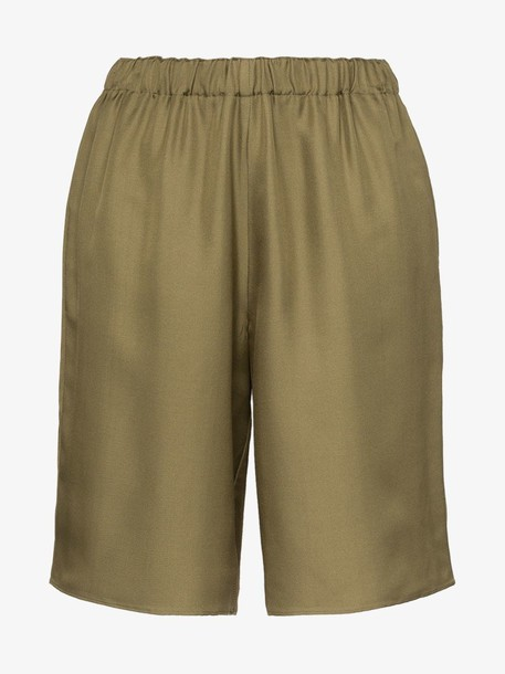 Deitas Cap Dantibes silk shorts in khaki