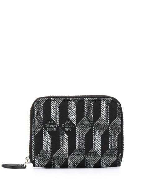 Au Départ monogram print purse in black
