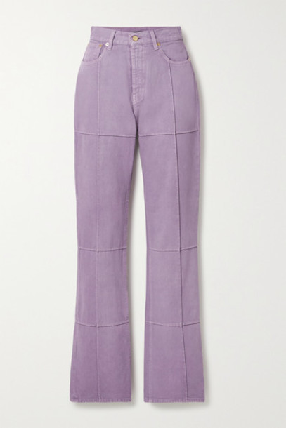 Jacquemus - Organic High-rise Straight-leg Jeans - Lilac