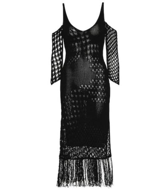 Altuzarra Octavia knitted midi dress in black