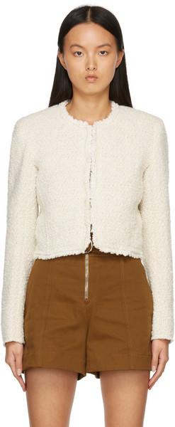 Isabel Marant Beige Wool Tweed Gradiano Jacket in ecru
