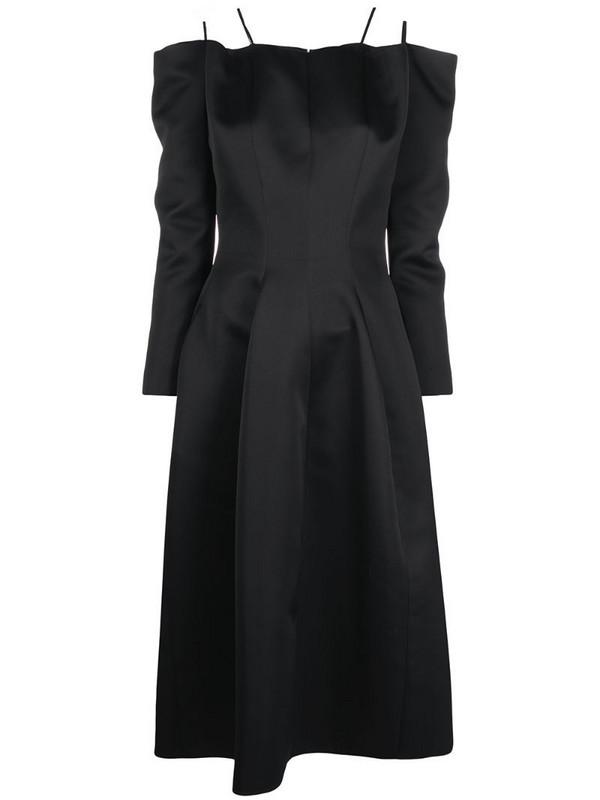Maison Rabih Kayrouz pleat-detail mid-length dress in black