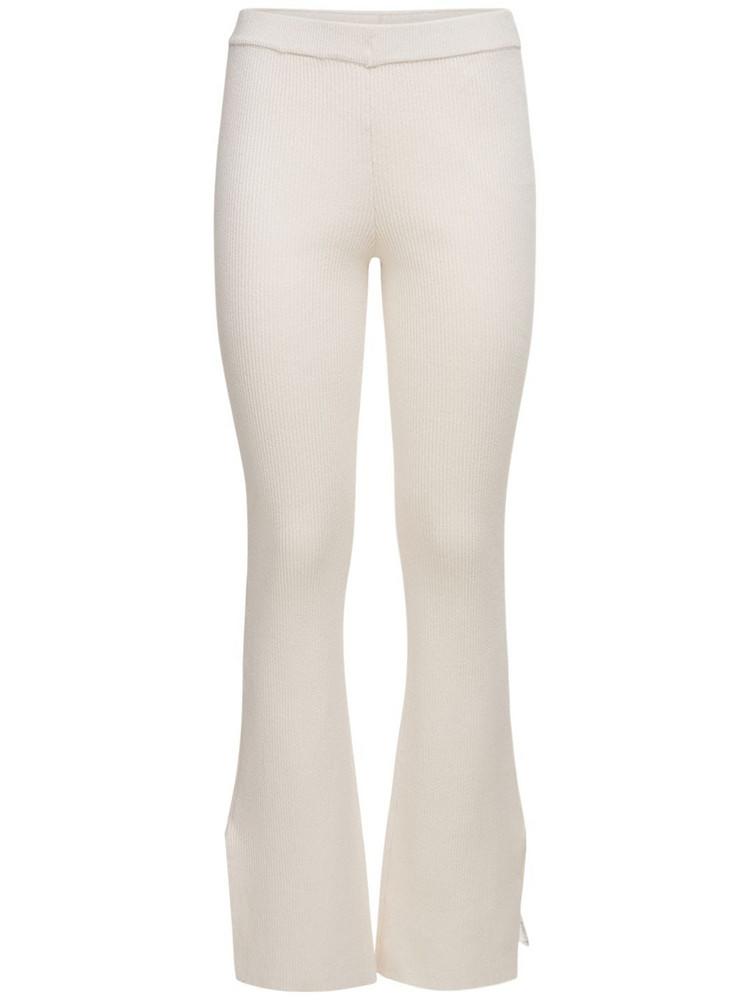 DESIGNERS REMIX Robin Organic Cotton Blend Knit Pants in cream