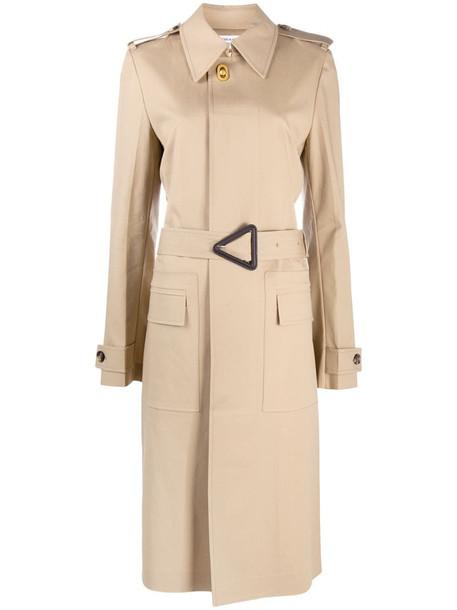 Bottega Veneta belted trench coat in neutrals