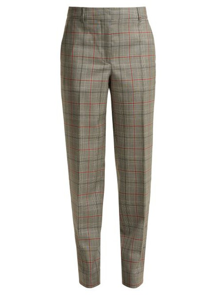 Calvin Klein 205w39nyc - Wall Street Prince Of Wales Checked Wool Trousers - Womens - Grey Multi