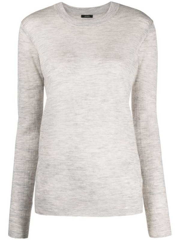 Joseph mélange cashmere knitted top in grey