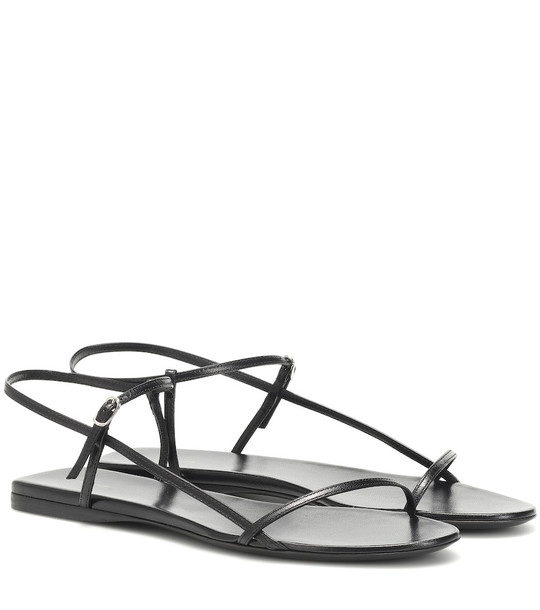 The Row Bare leather sandals in black