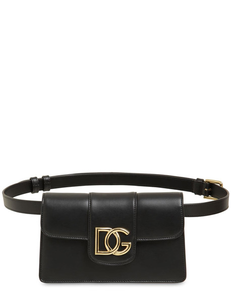 DOLCE & GABBANA Dg Millennials Leather Belt Bag in black