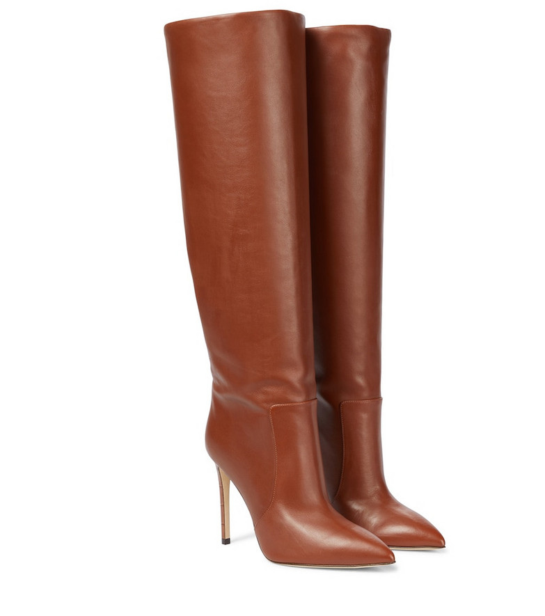Paris Texas Leather knee-high boots in brown