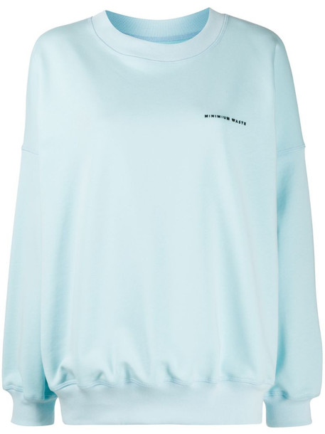 Styland oversized logo jumper in blue