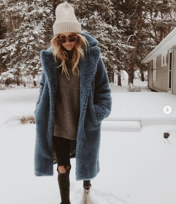 coat faux fur blue blogger urban outfitters fur coat mint iceblue