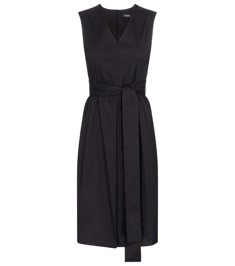 S Max Mara Estremo stretch cotton-blend midi dress in black