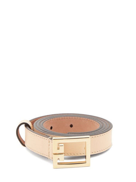 Givenchy - Gv3 Leather Belt - Womens - Brown