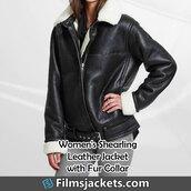 coat,womens black leather shearling jacket,leather jacket,jacket,fashion,outfit,women's outfit,womenswear,style