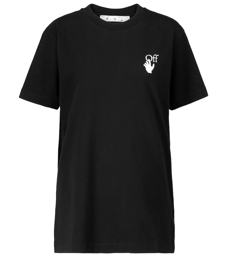 Off-White Logo cotton-jersey T-shirt in black