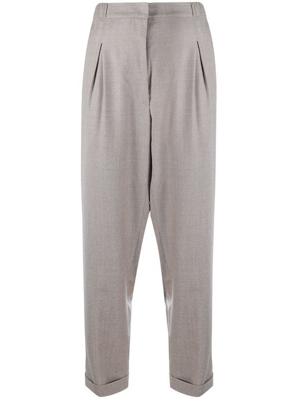 Gentry Portofino tapered wool trousers in grey