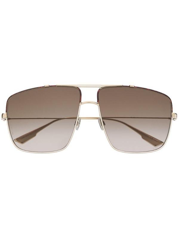 Dior Eyewear Monsieur2 navigator-frame sunglasses in gold