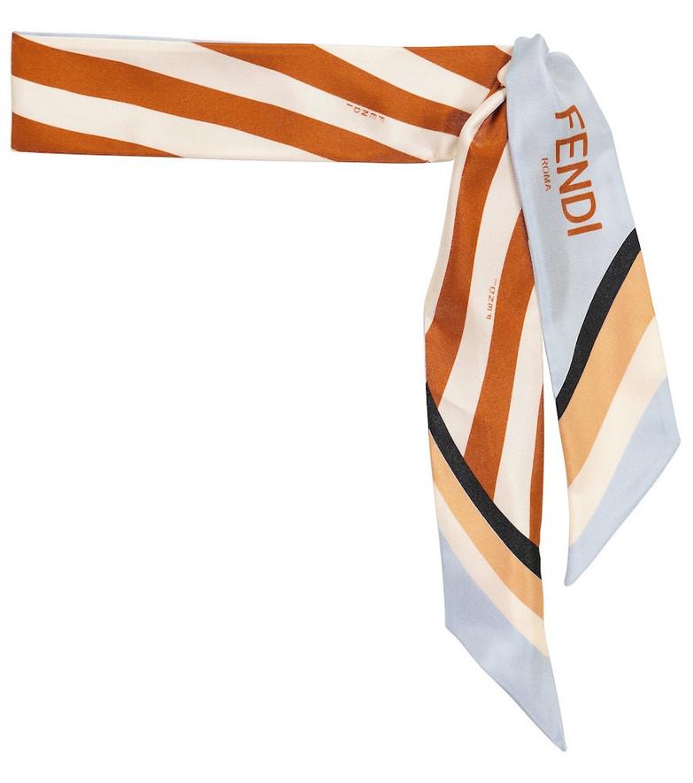 Fendi Silk twill scarf