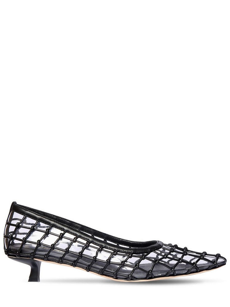 CULT GAIA 20mm Kenny Pvc & Leather Pumps in black