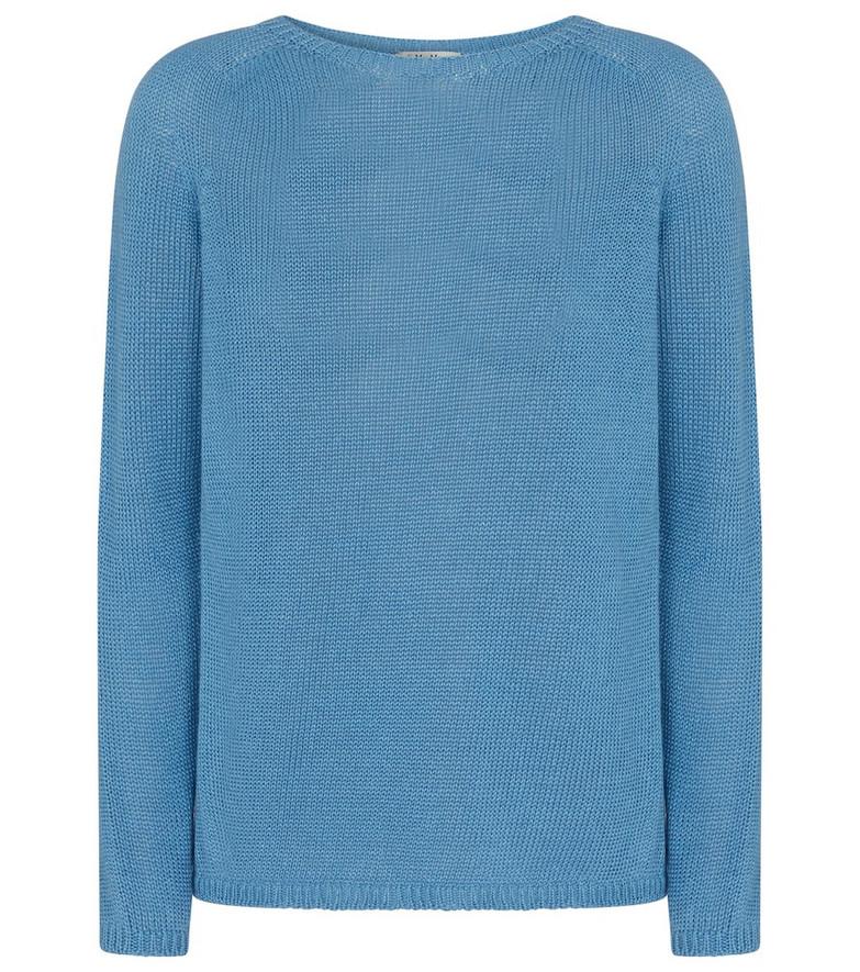 S Max Mara Giolino linen sweater in blue