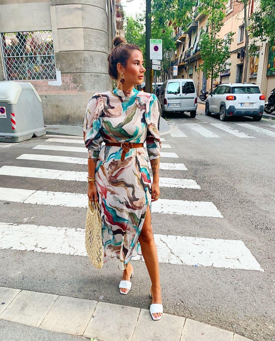 shoes white sandals midi dress turtleneck dress handbag