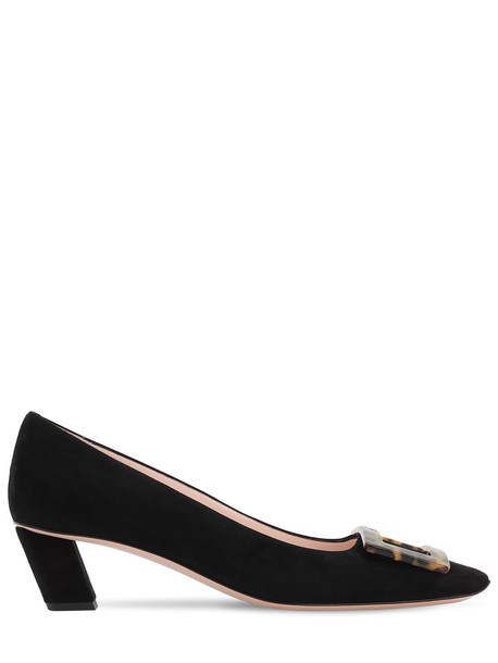 ROGER VIVIER 45mm Belle Vivier Suede Pumps in black