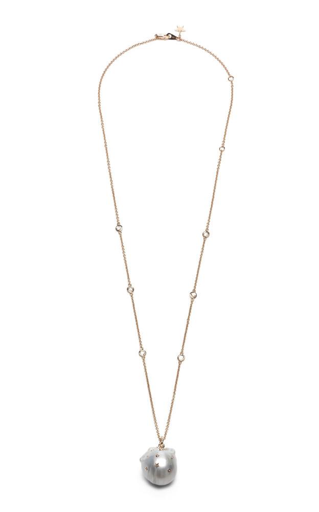 Bibi van der Velden 18K Rose Gold, Diamond And Pearl Necklace in white