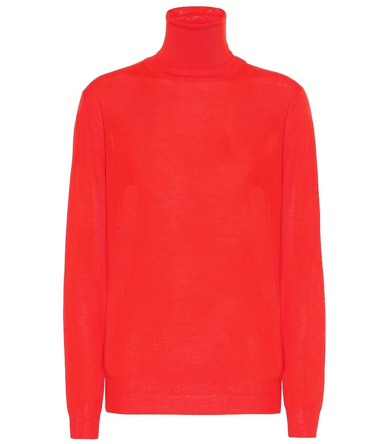 Stella McCartney Virgin wool turtleneck sweater in red
