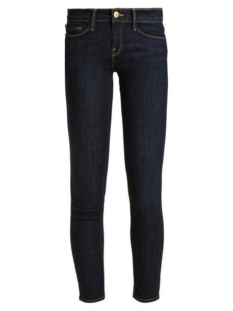 Frame - Le Skinny De Jeanne Mid Rise Jeans - Womens - Indigo