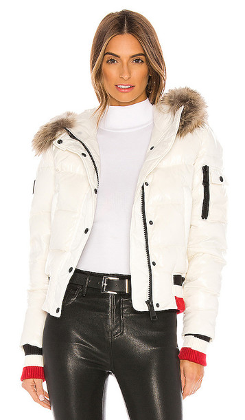 SAM. SAM. Sasha Detachable Fur Hood Puffer Jacket in Cream