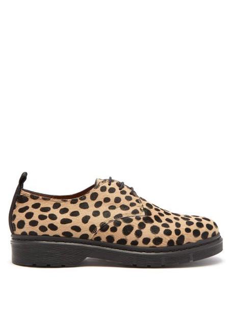 Joseph - Leopard Printed Calf Hair Derby Shoes - Womens - Black Tan