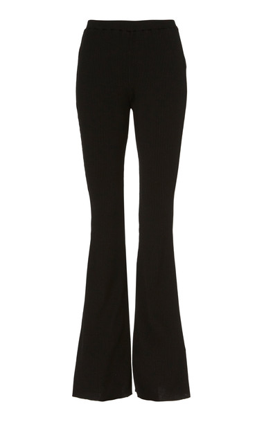 Maggie Marilyn Lead With Love Flared Ribbed-Knit Trousers Size: XS in black