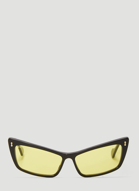 Gucci Rectangular Acetate Sunglasses in Black size One Size
