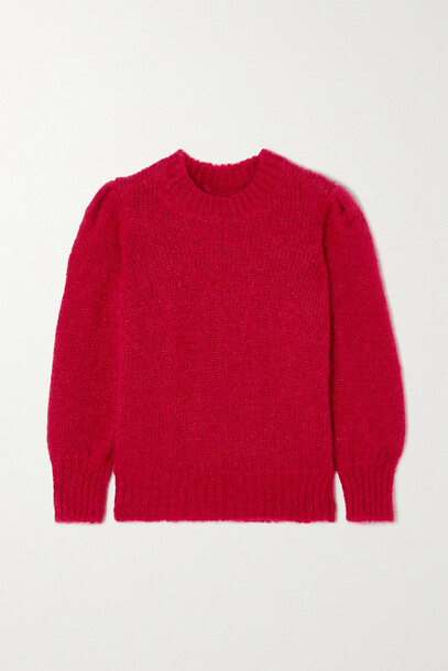 Isabel Marant - Emma Mohair-blend Sweater - Red