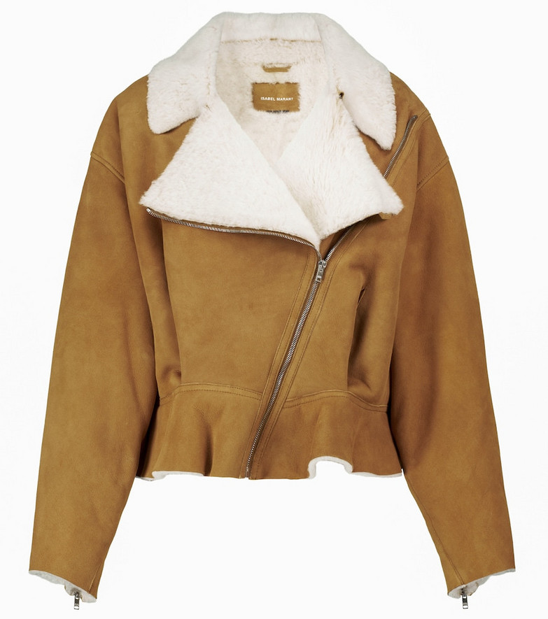 Isabel Marant Addya shearling-lined jacket in brown