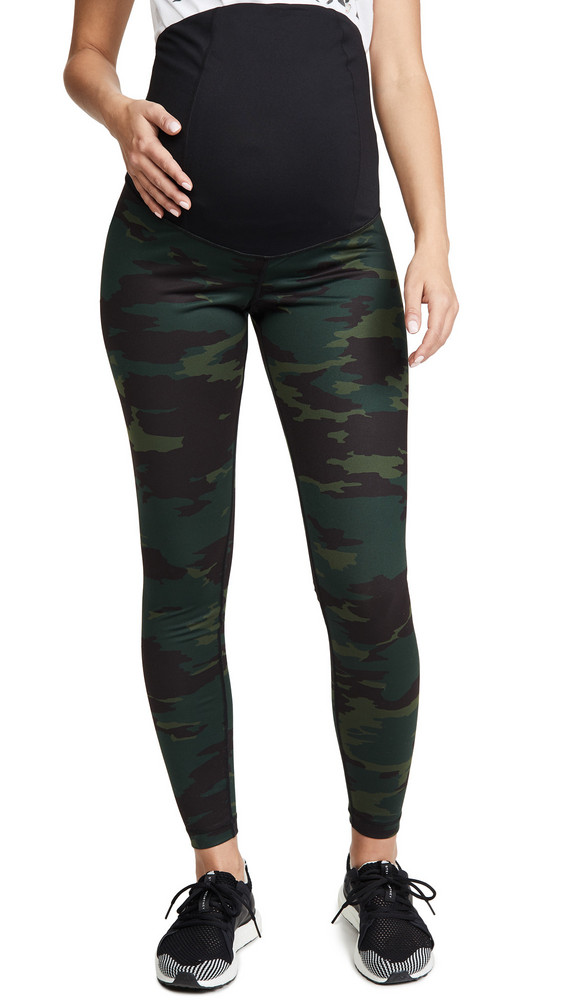 Ingrid & Isabel Active Leggings with Crossover Panel in green