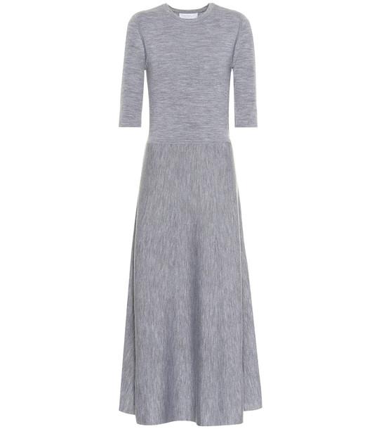 Gabriela Hearst Seymore wool-blend maxi dress in grey