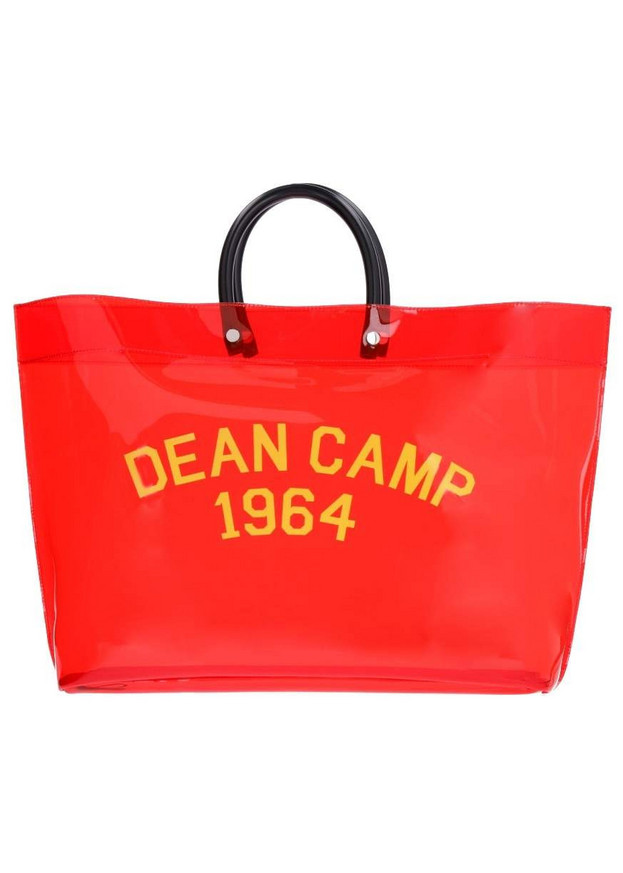 Dsquared2 Pvc Printed Tote Bag in red