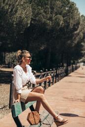 mi aventura con la moda,blogger,blouse,skirt,shoes,bag,jewels
