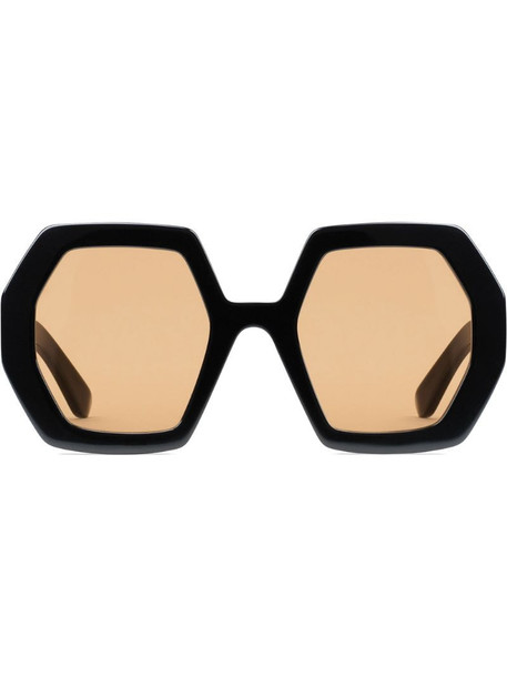 Gucci Eyewear oversized octagonal frame sunglasses in black