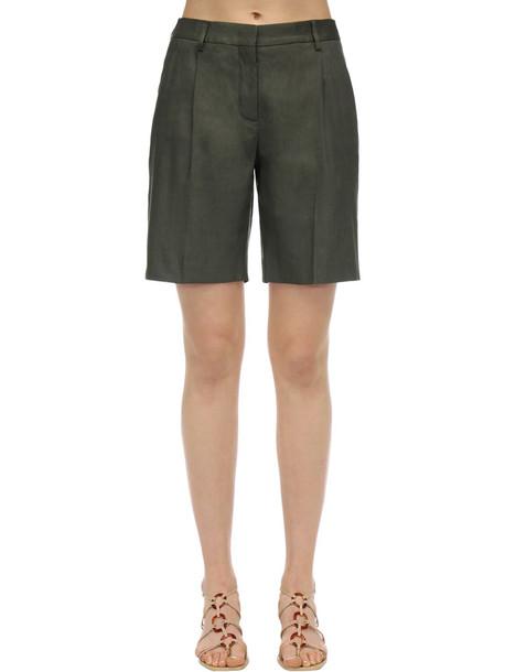 LARDINI Rubia Linen Blazer in green