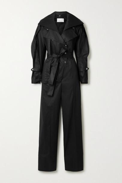 3.1 Phillip Lim - Belted Cotton-blend Poplin Jumpsuit - Black