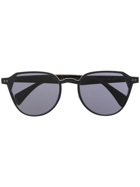 Yohji Yamamoto round tinted sunglasses - 002 BLACK