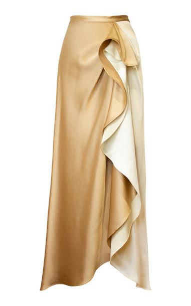 Alejandra Alonso Rojas Satin Cascade Skirt Size: 10