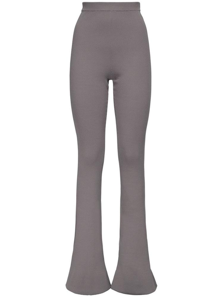 ROKH Flared Rayon Leggings in grey