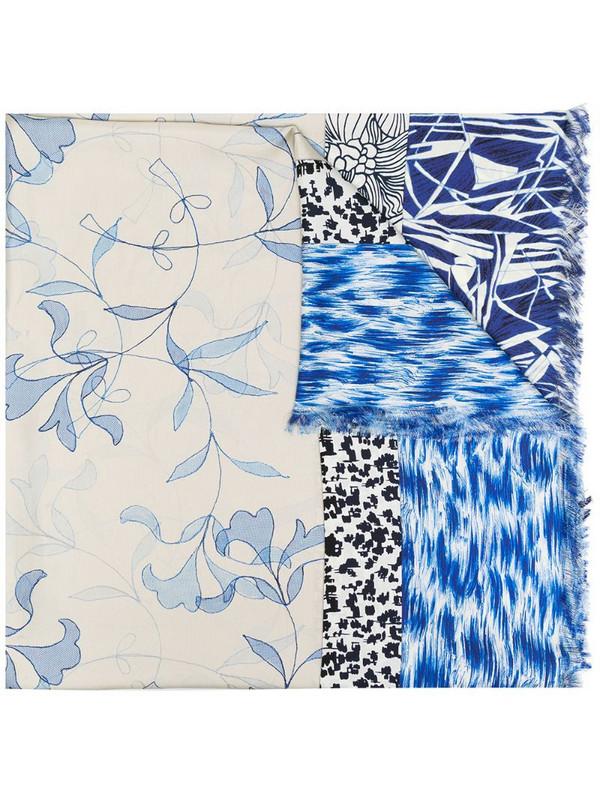 Pierre-Louis Mascia mixed-print silk scarf in blue